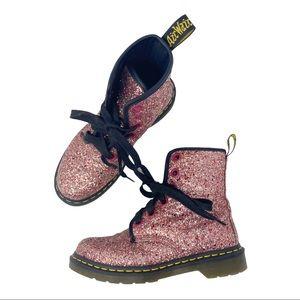 Dr. Martens Pink Glitter Sparkle Farrah Boots US 7